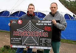 De organisatoren van de fuif Arachnophobia zorgen zaterdagavond voor een grote vuurwerkshow. Louis Verbraeken