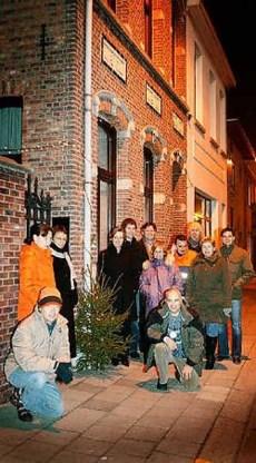 De pas opgerichte Fietsersbond van Berlaar zet kerstbomen op straat om de verkeersonveiligheid aan te kaarten. Inge Van den Heuvel<br>
