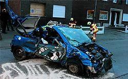 Het is nog niet duidelijk waarom de chauffeur probeerde te vluchten. Ingezonden beeld