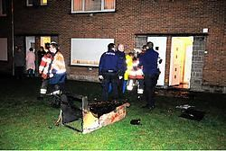 Waarschijnlijk als gevolg van een niet goed uitgedoofde sigaret, leed de woning van Brigitte Haelewyn in de Olmenstraat heel wat schade. Patrick Holderbeke