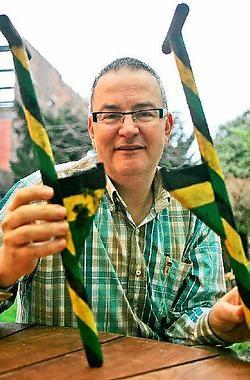 Burgemeester Eddie De Block: 'In 2008 bereidt Merchtem de grote steltenlopersstoet van het daaropvolgende jaar voor.' Koen Merens<br>