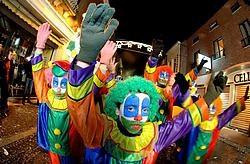 De clowns van 'Tert nie aup au leppe' wensten iedereen een gelukkig 2008.David Stockman<br>