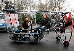 Koen Audenaert en Marc Steyaert: 'Met een zeppelin vliegen is een fantastische belevenis.'Gianni Barbieux