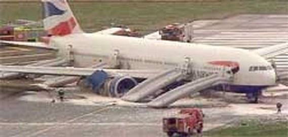 Vliegtuig mist landingsbaan op Heathrow