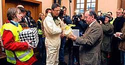 Het actiecomité Leefbaar Beveren protesteerde afgelopen zaterdag nog tegen het geplande industrieterrein in het noorden van Beveren. Frank Meurisse