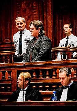 Beschuldigde Dirk Van Croonenborch: een 'voorstelling van zijn leven' voor de jury.Wim Daneels<br>