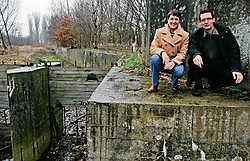 Ann Somers en Luc Van Rillaer bij De Antitankgracht. Koen Merens