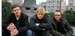 Jan Beke, Edmond Cocquyt jr. en Arne Loccufier bij Klokke Roeland: 'Het is tijd dat de Gentenaars terug hun plaats in de geschiedenis opeisen.'<br>Frederiek <br>Vande Velde