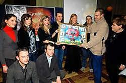 Marc Peeters nam in naam van GymFriS de Pajottersprijs van de CD&V-jongeren in ontvangst. Yvan De Saedeleer