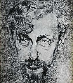 Portret van Karel van de Woestijne door zijn broer Gustave. rr<br>
