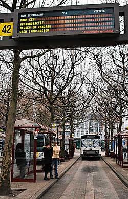 Buschauffeurs van De Lijn legden 24 uur het werk neer aan stelplaats Zurenborg.Walter Saenen<br>
