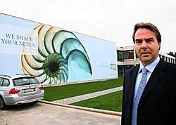 Filip Schelfhout: 'De nieuwe kantoren mogen zeker gezien worden.' Emiel Vermeir<br>