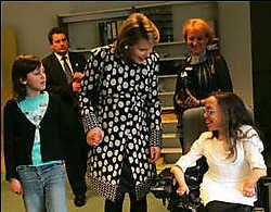 Prinses Mathilde kende veel bijval met haar 'braillejurk'.Philip Reynaers<br>