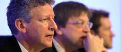 Pieter De Crem (l.) en Guy Verhofstadt. blg<br>