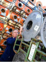 De aluminium-chroombobijnen bij Liebaert.David Stockman