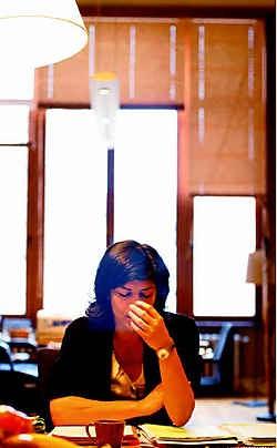 Joëlle Milquet drijft tijdens de onderhandelingen de gesprekspartners tot wanhoop met haar tekstobsessie. Ivan Put<br>