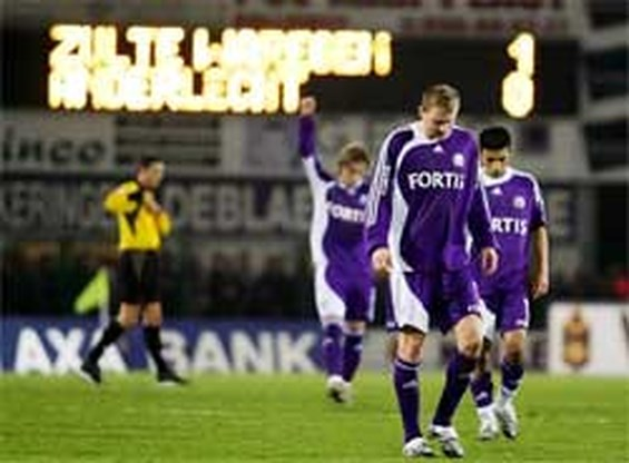 Anderlecht onderuit tegen Zulte Waregem