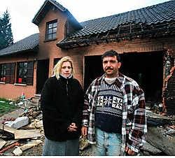 De bewoners werden gewekt door buurtbewoner Hasan Kodaci. Mine Dalemans<br>