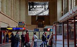 Het beeld 'The Still Life' moet meer rust brengen onder de pendelaars.Herman Ricour