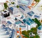 Het Koningsplein in Brussel, met links het Magrittemuseum.<br>Ingezonden beeld