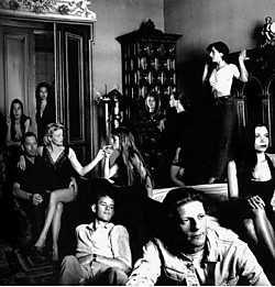 'The minds of Helena Troubleyn', met rechts voorraan Jan Fabre, 1989. Helmut Newton<br>