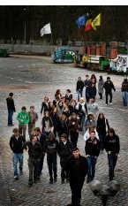 De leerlingen volgden dan maar een alternatief programma met een bezoek aan het mijnmuseum in Beringen. Yorick Jansens<br>