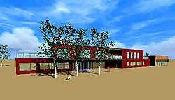 Een strak en modern gebouw biedt plaats aan meer dan 35werknemers. ingezonden foto