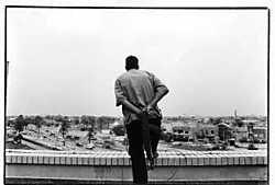 Een foto van Karim Abrahaam, die exposeert in Brussel.Karim Abraheem<br>