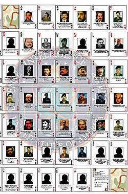 Het kaartspel met de meest gezochte Irakezen.rtr<br>
