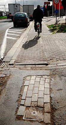 Elf procent Vlaamse fietspaden in slechte staat