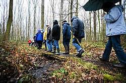 Natuurliefhebbers en buurtbewoners maakten een wandeling door natuurgebied 't Asbroek. Wim Kempenaers <br>