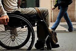 In Brussel belanden zelfs jonge gehandicapten opvallend vaak n een rusthuis. Herman Ricour<br>