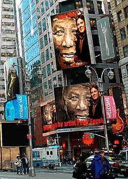 Het portret van Nelson Mandela, geschilderd door Peter Engels, rr<br>