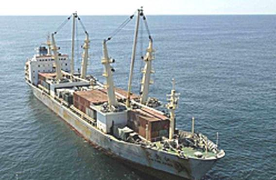 Wapenschip Zimbabwe keert terug naar China