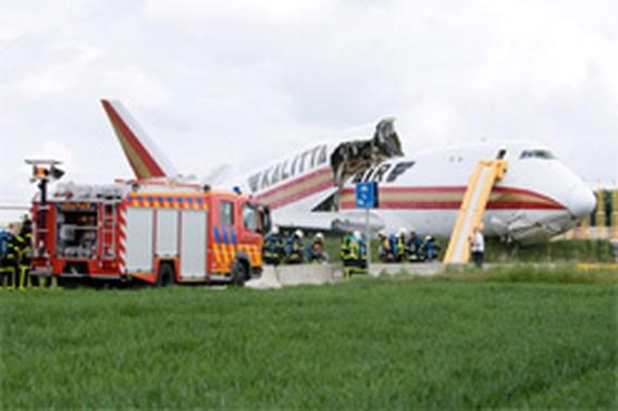 Vrachtvliegtuig van de baan in Zaventem
