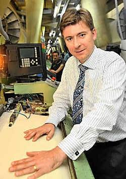 Peter Bauwens van Weverij Clarysse, de grootste werkgever in Pittem: 'We rekruteren vooral in de regio zelf.'Frank Meurisse<br>