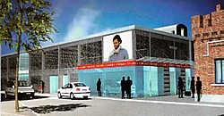 In het ontwerp krijgt het station twee fronten met onder meer plaats voor winkels en kantoren. foto's repro carol verstraete<br>