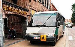 Een kleine minderheid van de kinderen maakt gebruik van het leerlingenvervoer. Isabelle Vanhassel