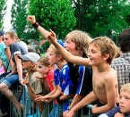 Geroutineerde festivalgangers aan 't Pelterke. if