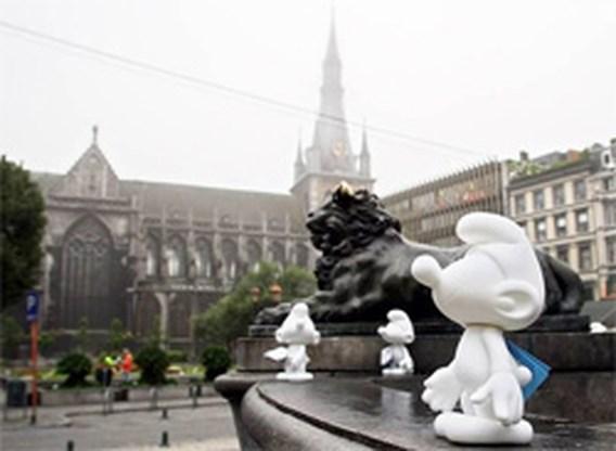 Smurfen vieren 50ste verjaardag in Luik