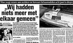 Dat Francine Van Goidsenhove door haar echtgenoot werd gewurgd en aan stukken gezaagd, is het gerecht te weten gekomen dankzij de kanarie van de buurvrouw (zie artikel hieronder: Detail doet dader de das om).<br>Archief corelio<br>