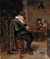 'Oude man in een kroeg'. kmska<br>