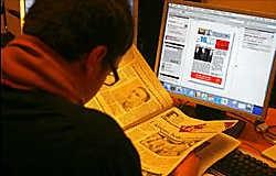 Zal de krant de strijd verliezen van het internet?photo news<br>