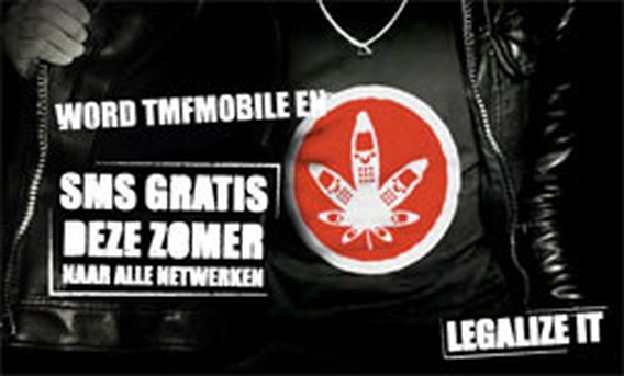 Polemiek rond cannabis in TMF Mobile-reclame
