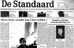 De Standaard van 16 oktober 1995: exclusief gesprek. <br>