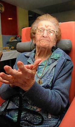 Met haar 106 jaar is Valentina de oudste Izegemse ooit. Frank Meurisse