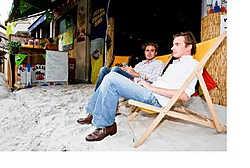 Zand in 't Stad, je vindt het in de Korte Winkelstraat. Walter Saenen