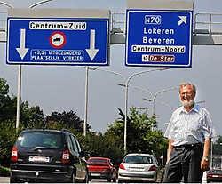 Een betere signalisatie zou al veel verkeer uit de stadskern weghouden, meent Patric Gorrebeeck.<br> Paul De Malsche