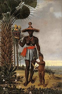 Albert Eckhout, 'Afrikaanse vrouw', 1641: een zwarte slavin in Brazilië.Nieuwe Kerk <br>