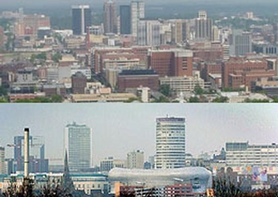Stad Birmingham zet verkeerde skyline op folders